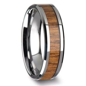 Other - 8mm men's Tungsten Wood Inlay Ring